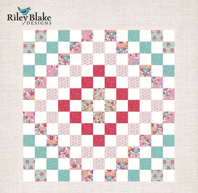 Around We Go Baby Quilt Pattern by Riley Blake Designs
