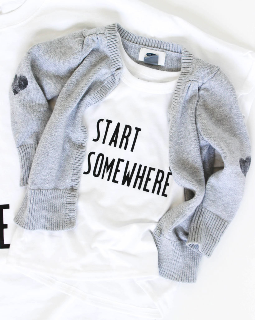 This Start Somewhere shirt is simple yet stylish