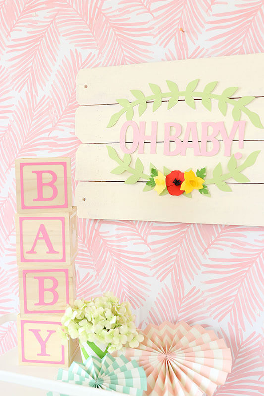 Easy Diy Baby Shower Decor With A Cricut Rose Machine Cricut
