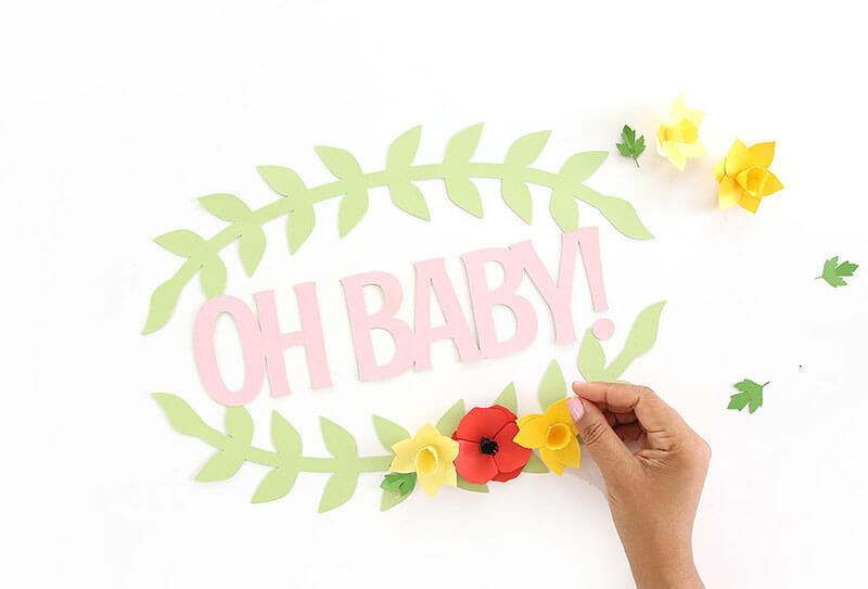 You can make this sign for a baby shower