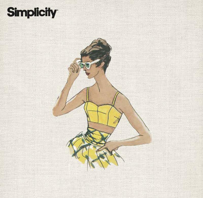 A cute cropped corset pattern