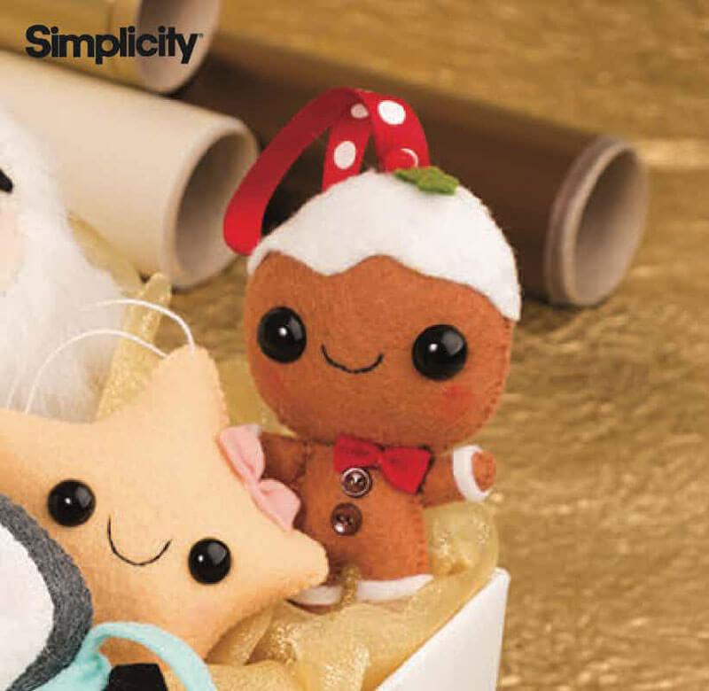 An adorable little gingerbread man ornament pattern
