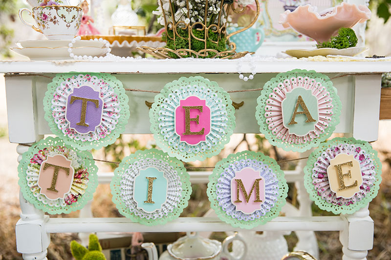 Dress up your tea cart with this cute banner