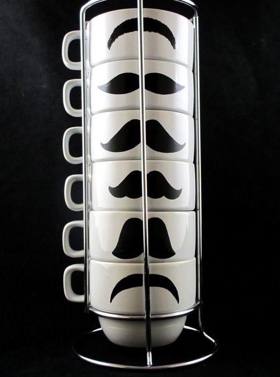Mustache Mugs Image
