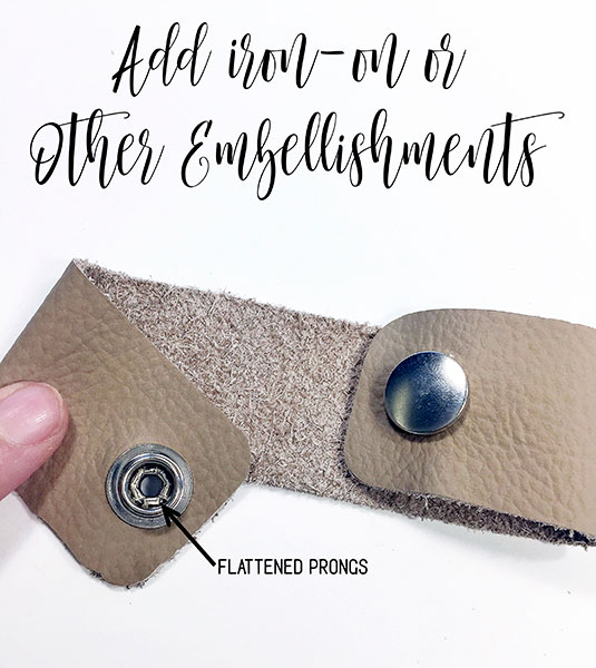 Add Iron-On Embellishments