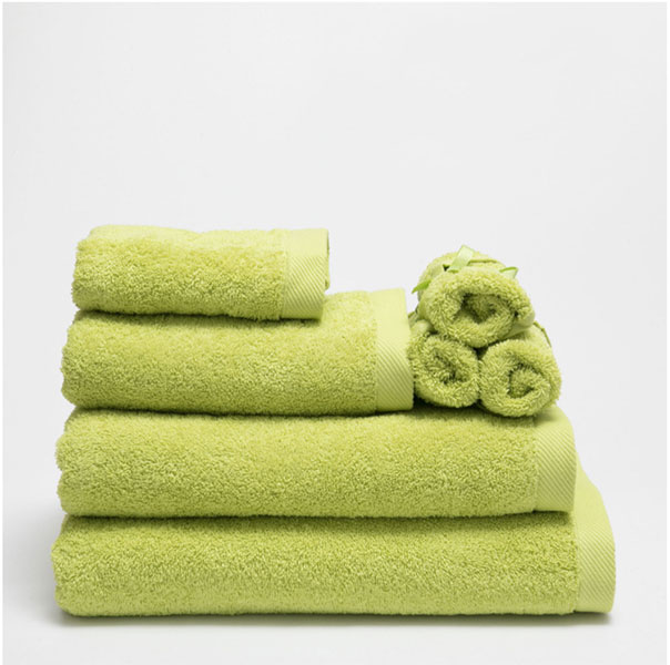 Zara Home basic apple green towels