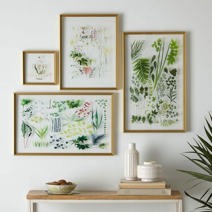 West Elm still acrylic wall art – Spring Botanicals