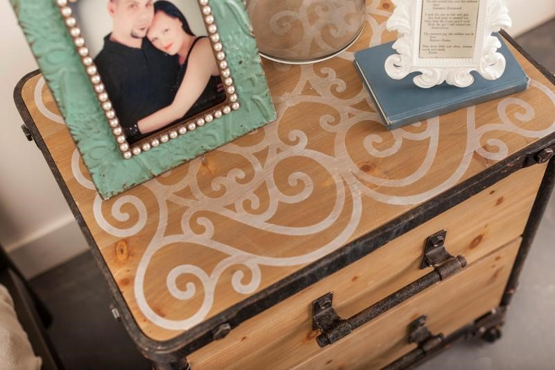Design a Rustic Nightstand with Vinyl Stencil & Paint | Cricut