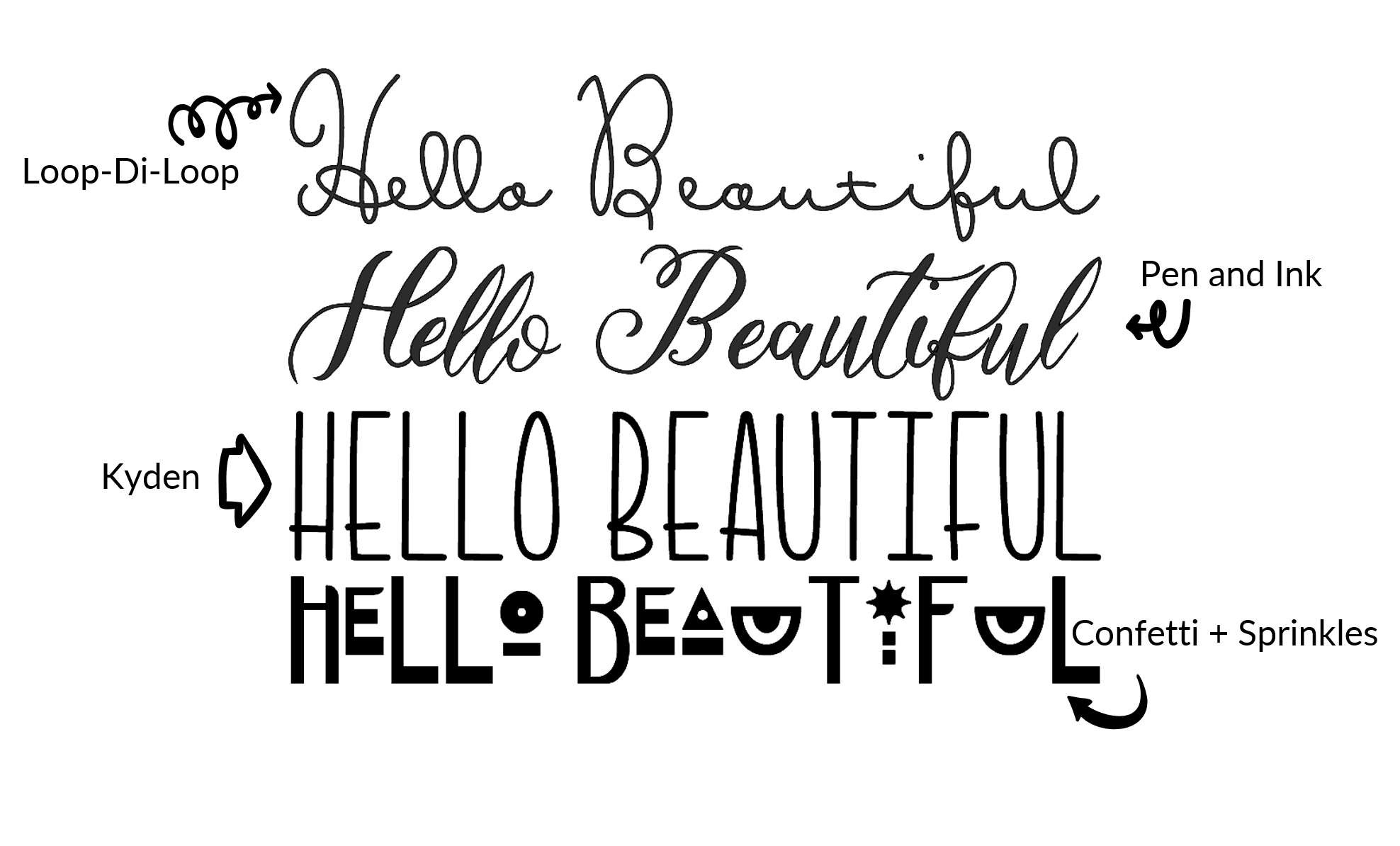 Hello Beautiful Font Image