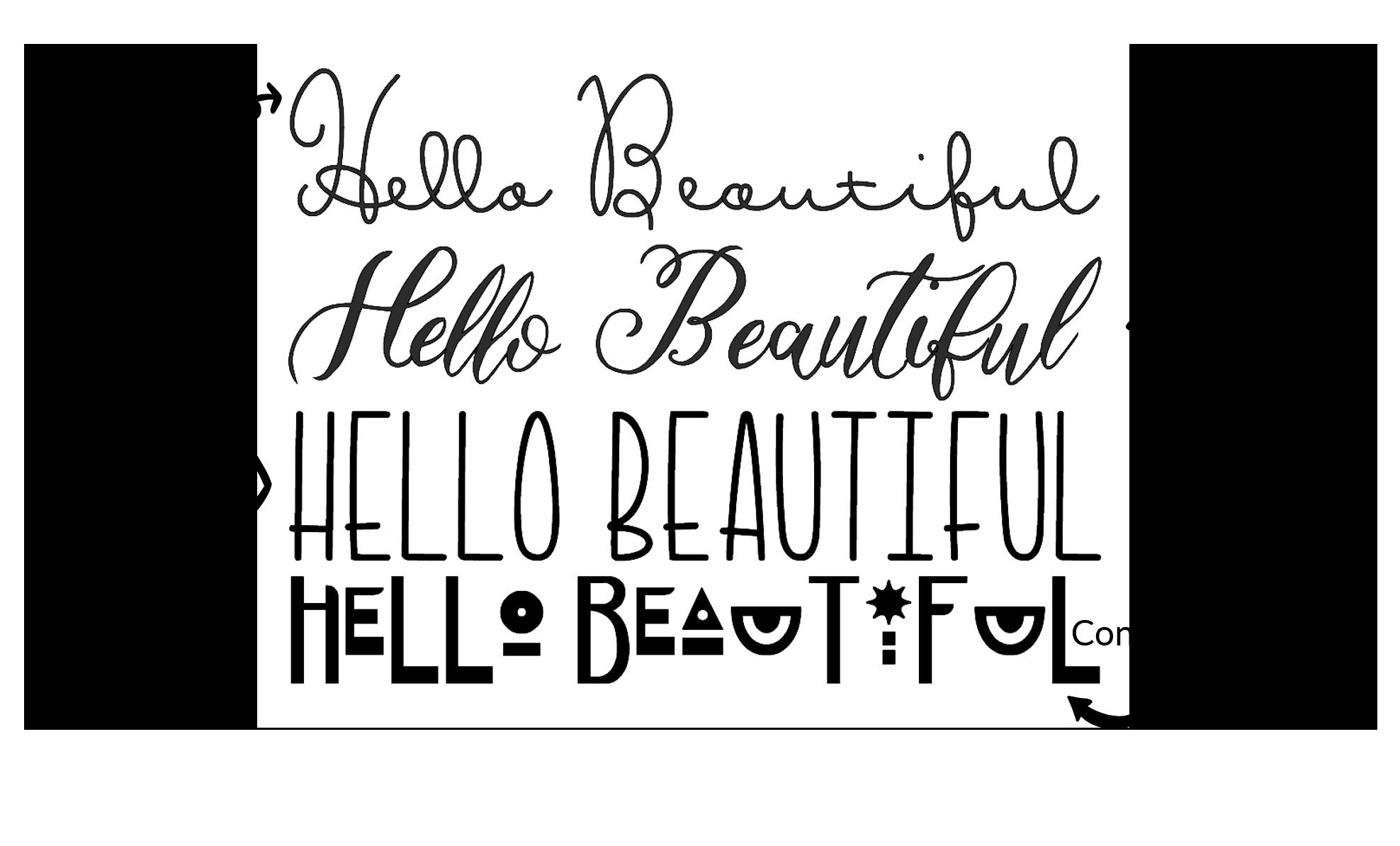 Hello Beautiful Font Image