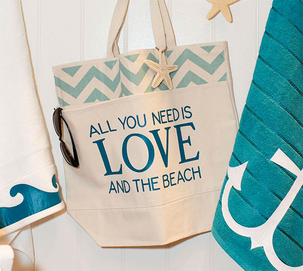 beach canvas tote