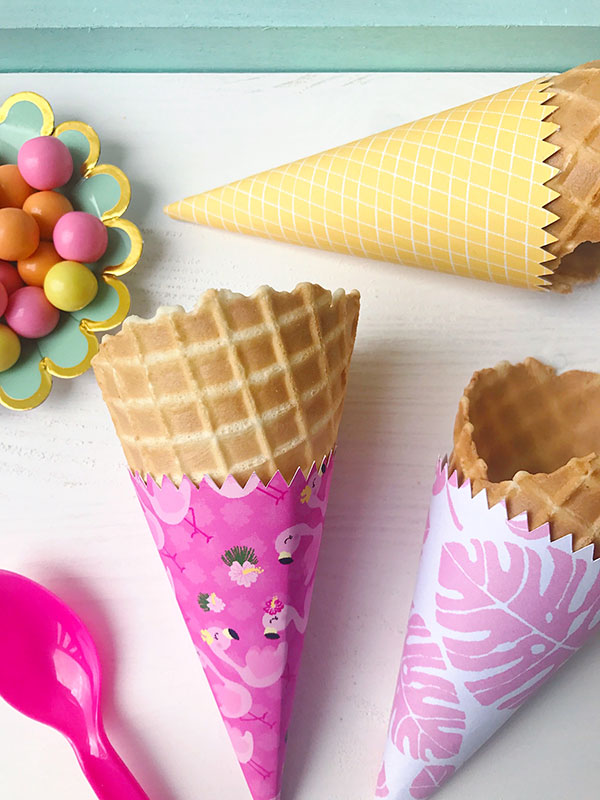 Cute ice cream cone wrappers with your own patterns