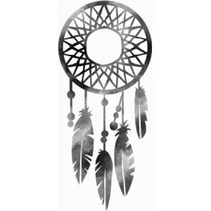 Silhouette of a dream catcher