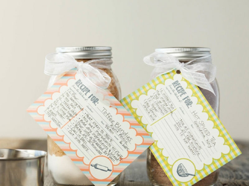 Make your own recipe card gift tags