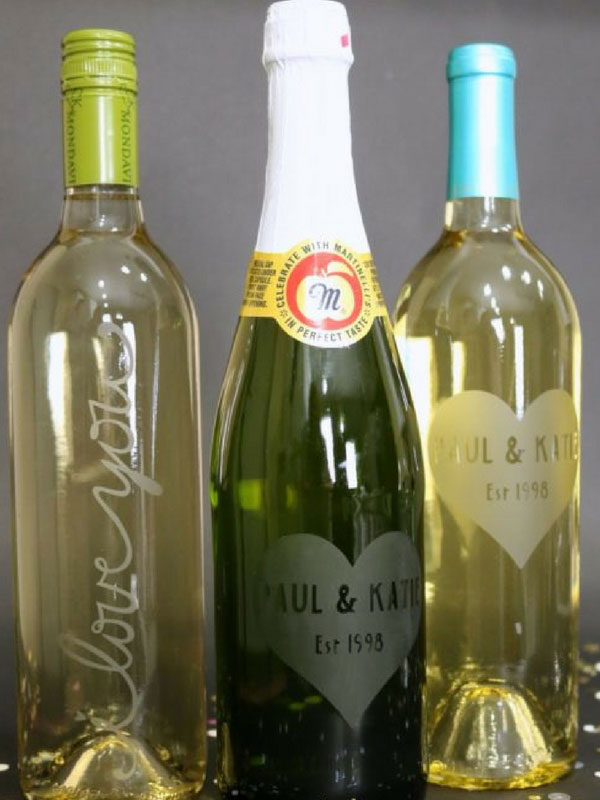 Etch some wine bottles for a special gift
