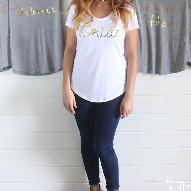 Let everyone know who is in the bridal party with these fun shirts