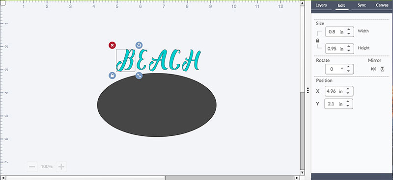Align your text with your oval shape