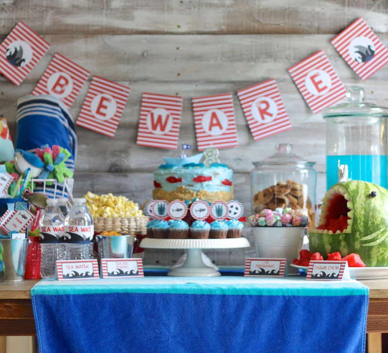 Celebrate Shark Week with this fun party theme