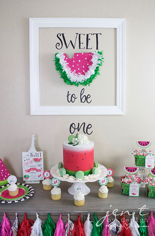 Celebrate your wee one with this watermelon birthday theme