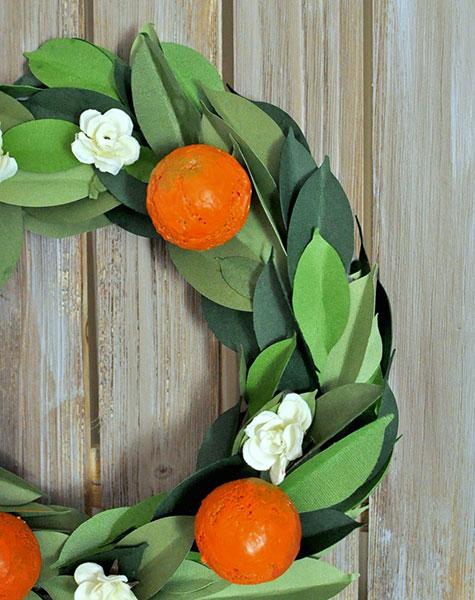 Flower & Orange Wreath
