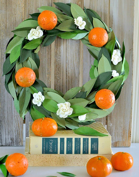 Flower & Orange Wreath