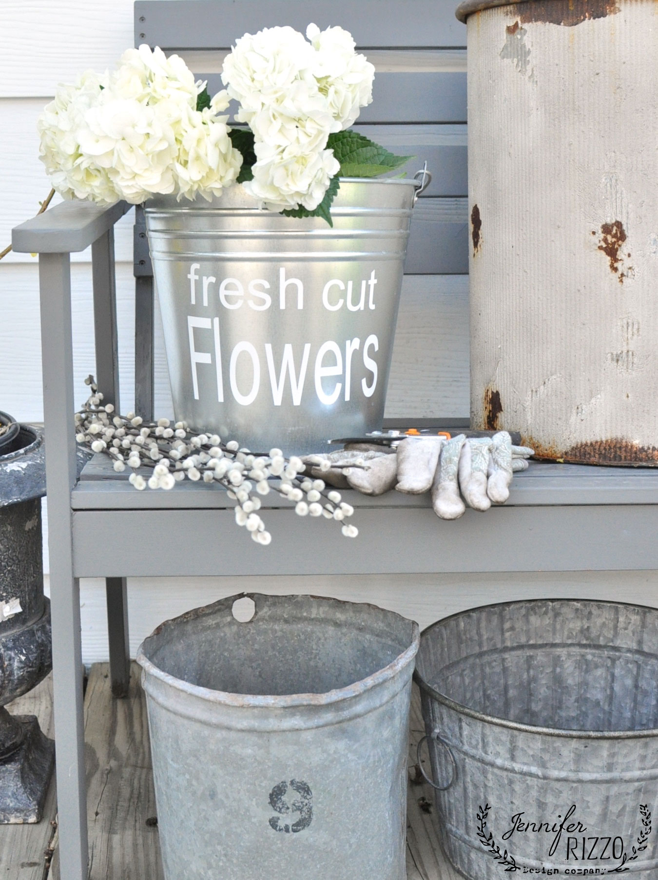 This Galvanized Flower Bucket Is Everything For Your