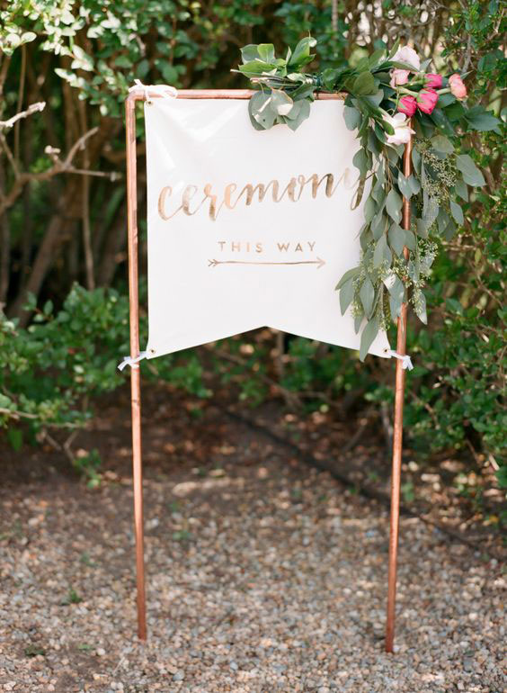 iron on wedding sign