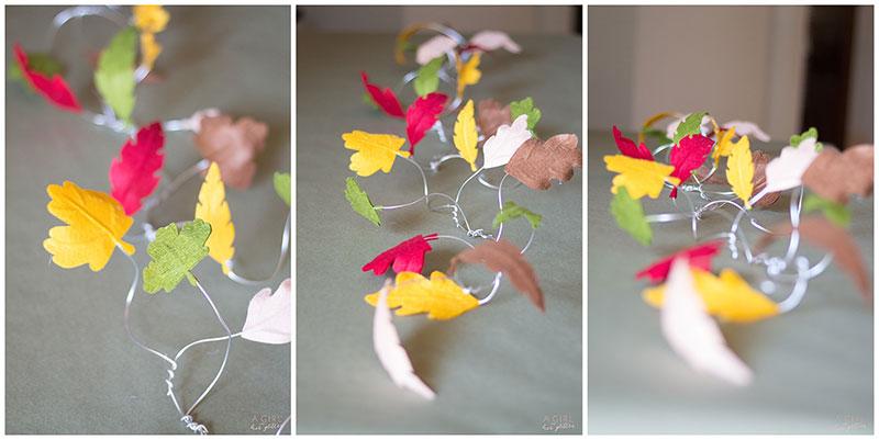 Finish up your no sew felt leaves!
