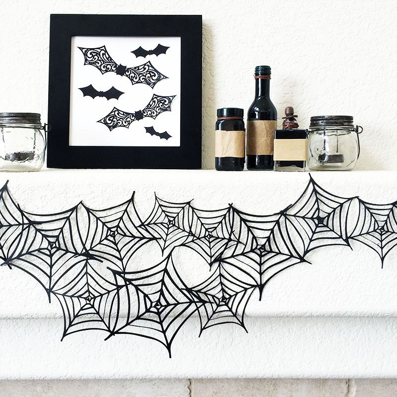 Make this fun spiderweb garland