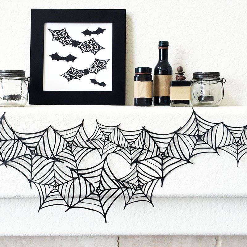 Make this fun spiderweb garland