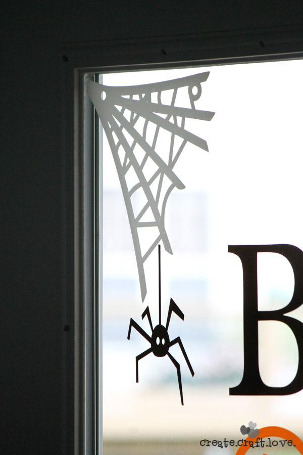 Halloween web window clings