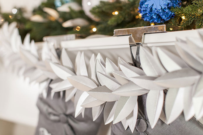 This garland is perfect for winter parties