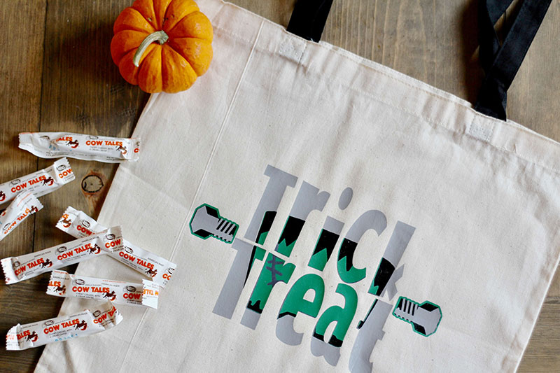 Finished Trick or Treat bag