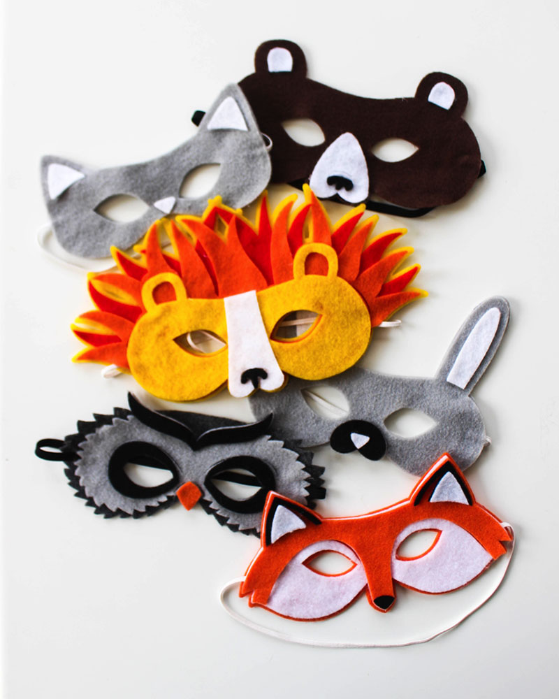 Make one of these cute animal masks for Halloween or any other day of the year!