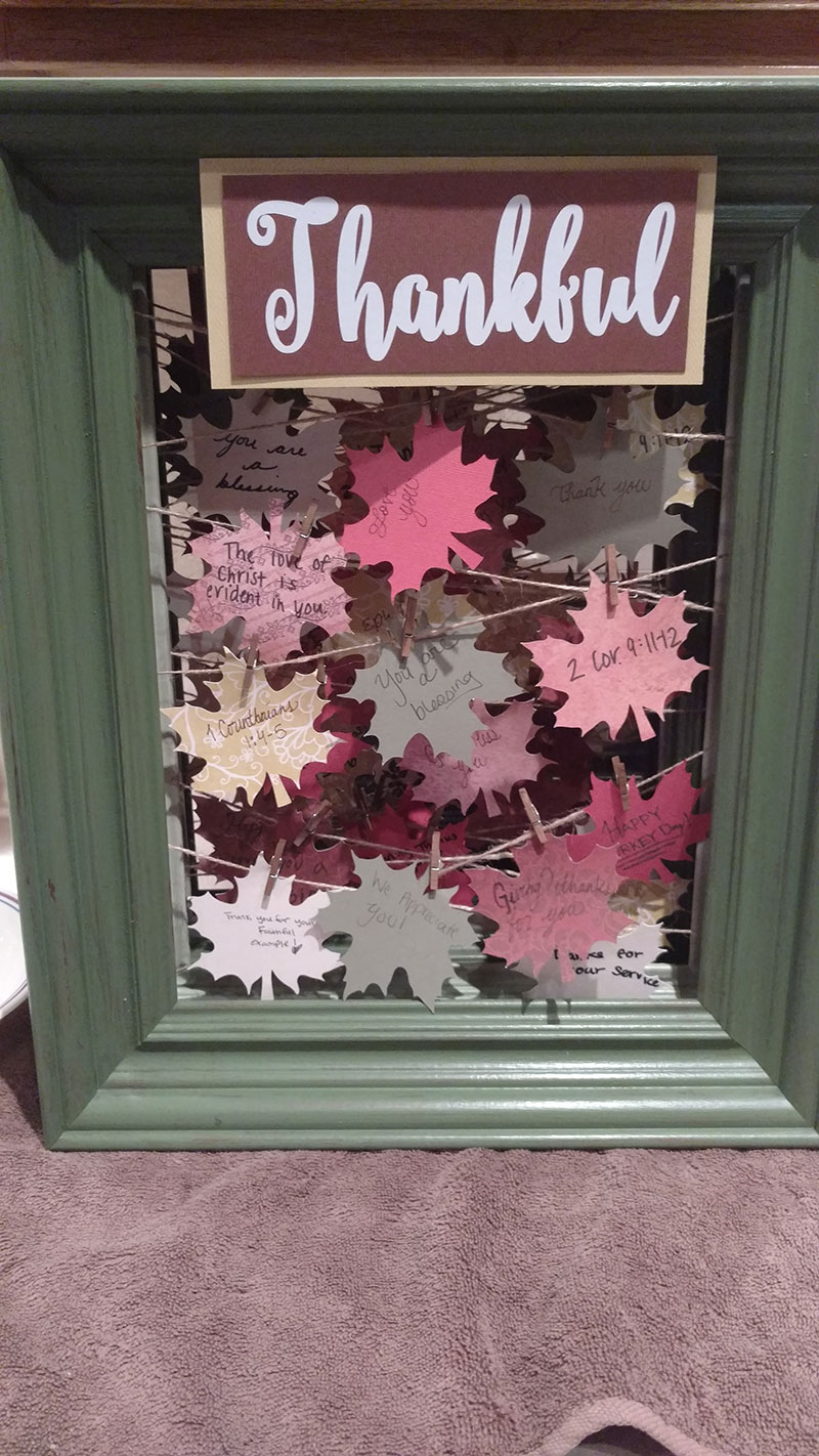 Thankful leaf craft