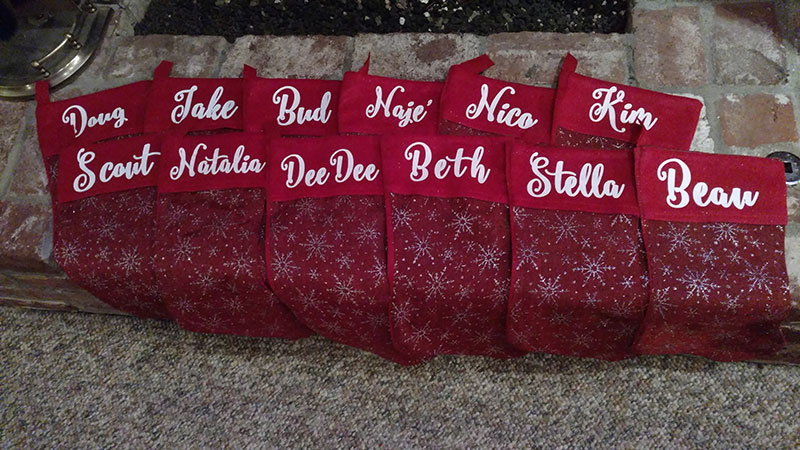 Customized Christmas stockings