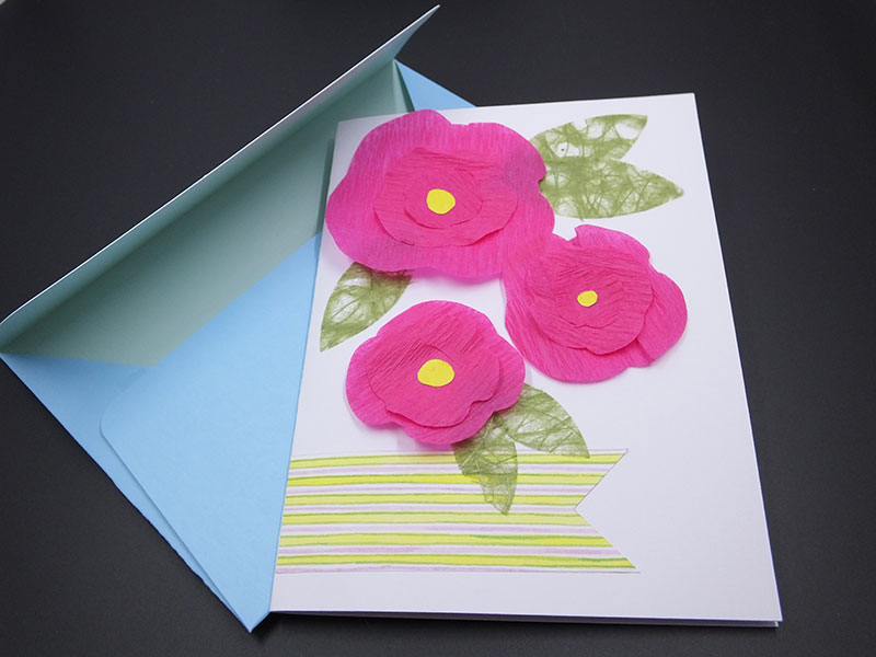 Paper projects we love cricut crepe paper flower card mightylinksfo