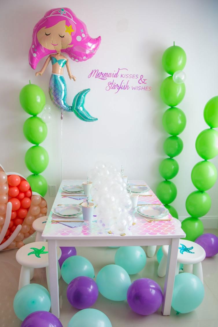 Cute mermaid party display