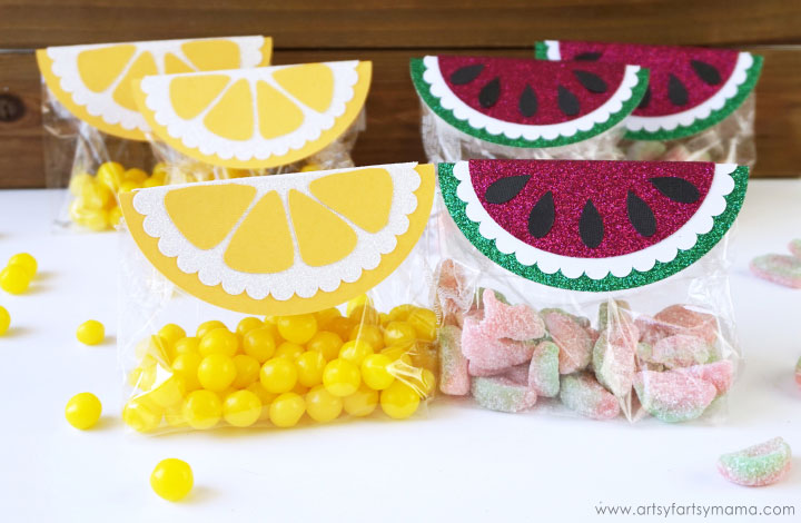 Top your sweets with these cute watermelons and lemons