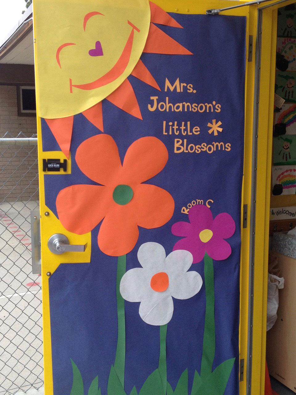 Decorated classroom door
