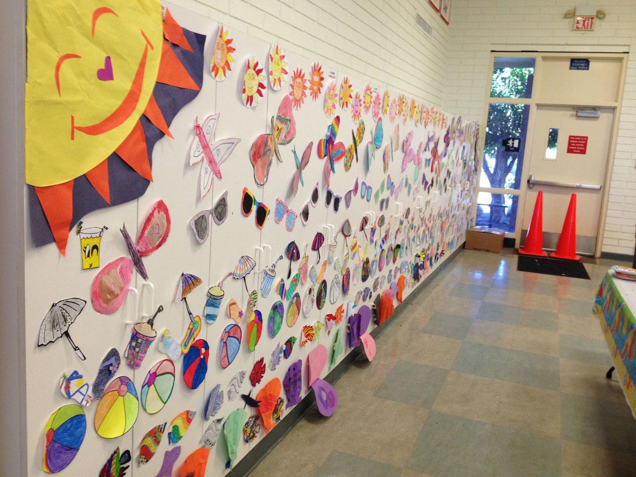 School wall display
