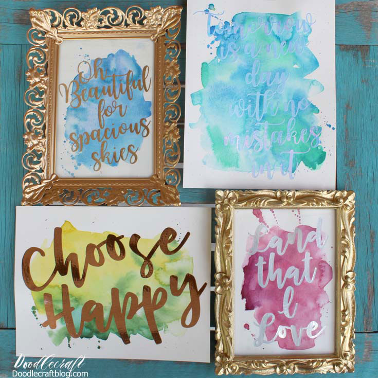 Create custom home decor with adhesive foil cricut for Decor 2 sell