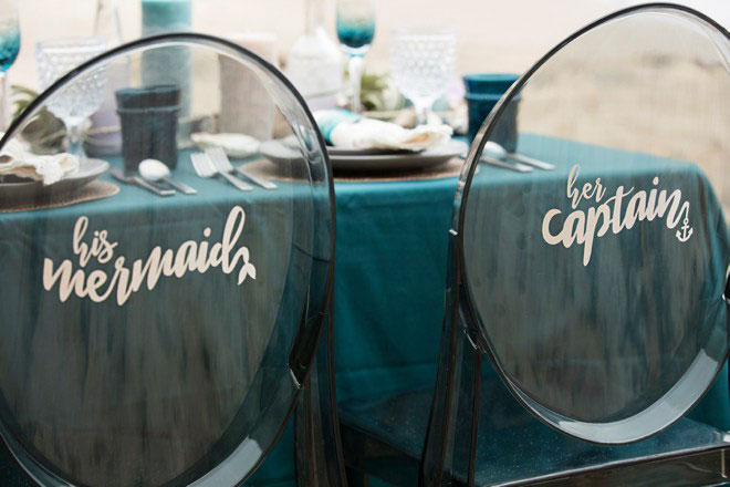 Make your wedding extra special with these customized reception chairs