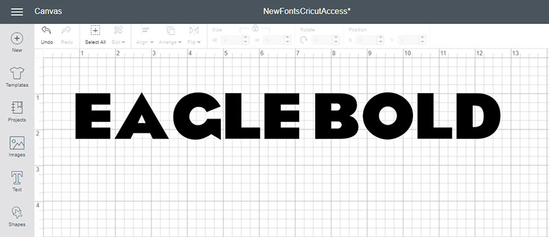 Eagle Bold is a new Cricut Access font