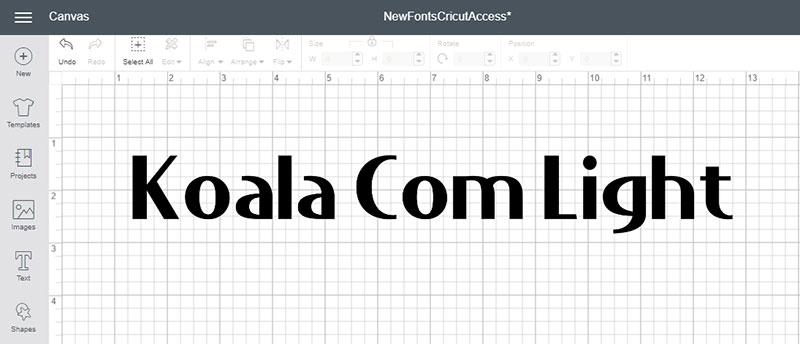 Koala Com Light Font
