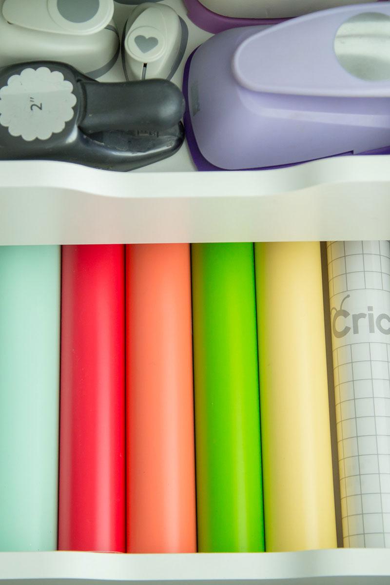 Organizing rolls of vinyl