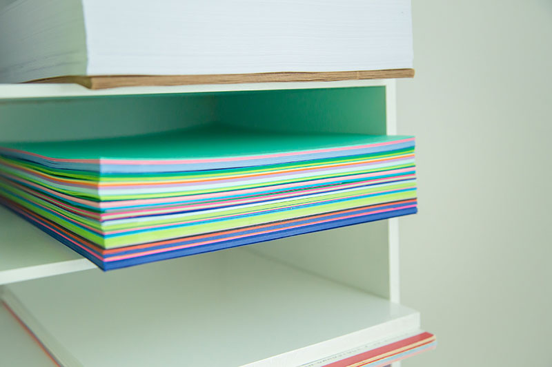 Organizing cardstock