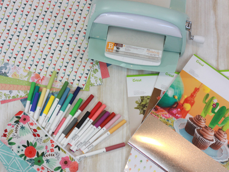 Supplies for the beginning Cricut user doing paper crafts