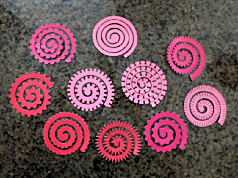 Cut out your flower spirals