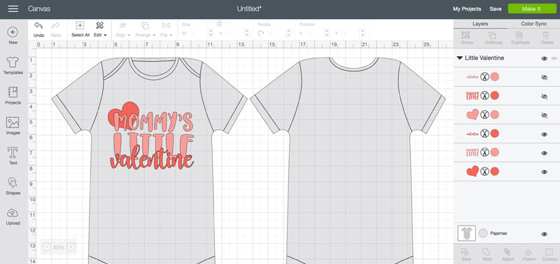 Mommy Amp Daddy S Little Valentine Onesies Cricut